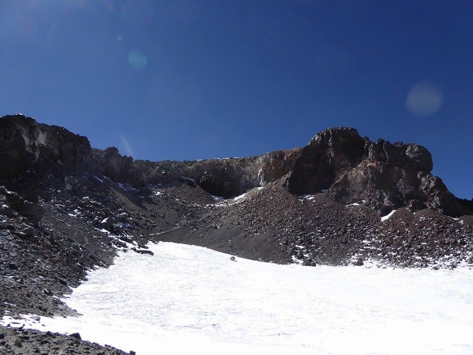 Volcanic Seven Summit - The inner crater of Ojos del Salado