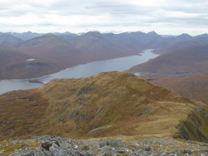 View down Loch Quoich from Gleouraich's summit