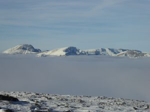 Ben Nevis and the Aonachs float above the clouds