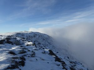 Looking back at Leum Uilleum summit