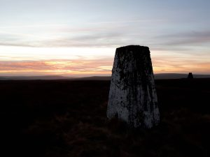 White Hill sunset Forest of Bowland