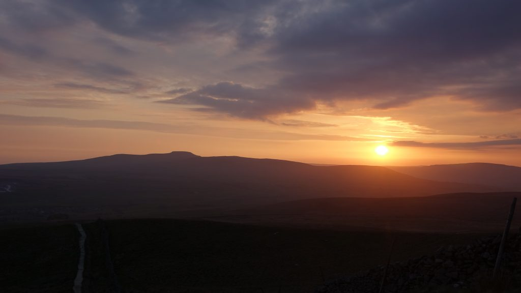 Ingleborough at sunset - one of the Yorkshire 3 Peaks