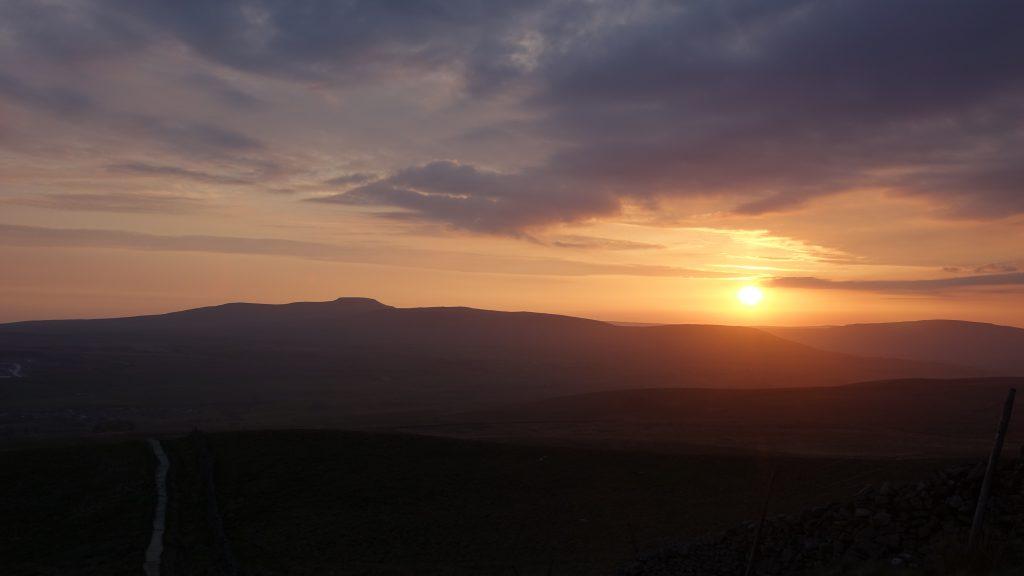 Ingleborough at sunset - one of the Yorkshire 3 Peaks