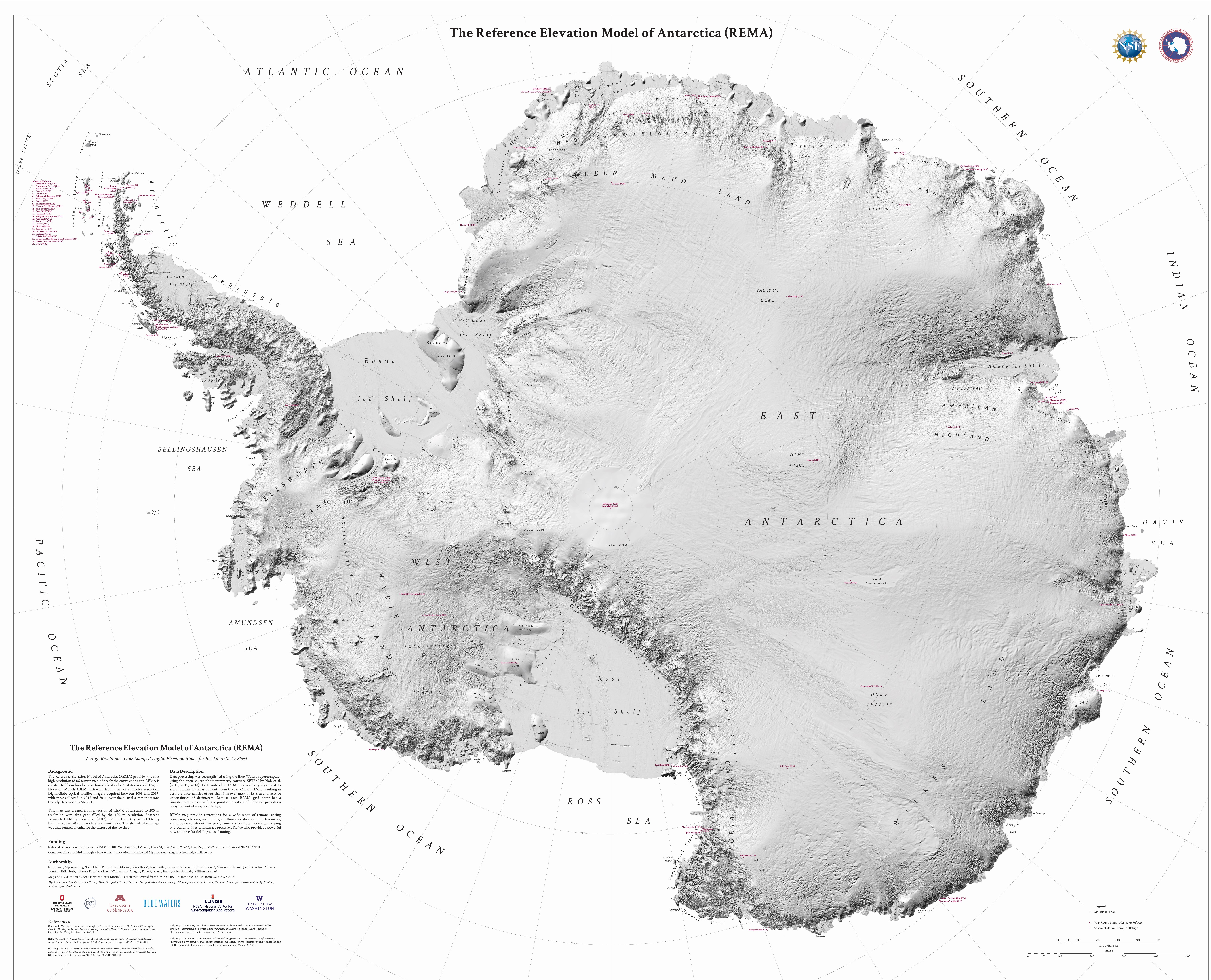 New mapping of Antarctica