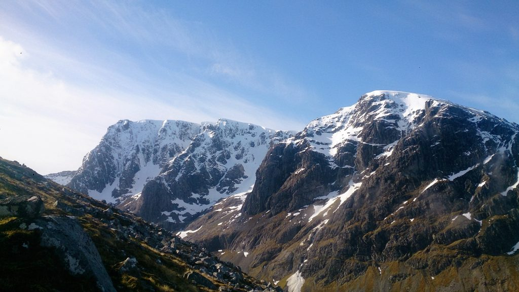 Ben Nevis, north face. The highest of the British volcanic seven summits