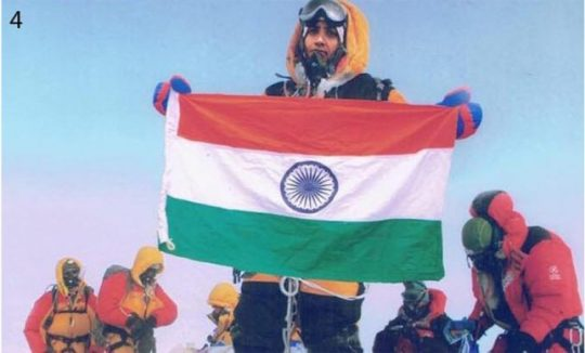 The falsified image on Everest
