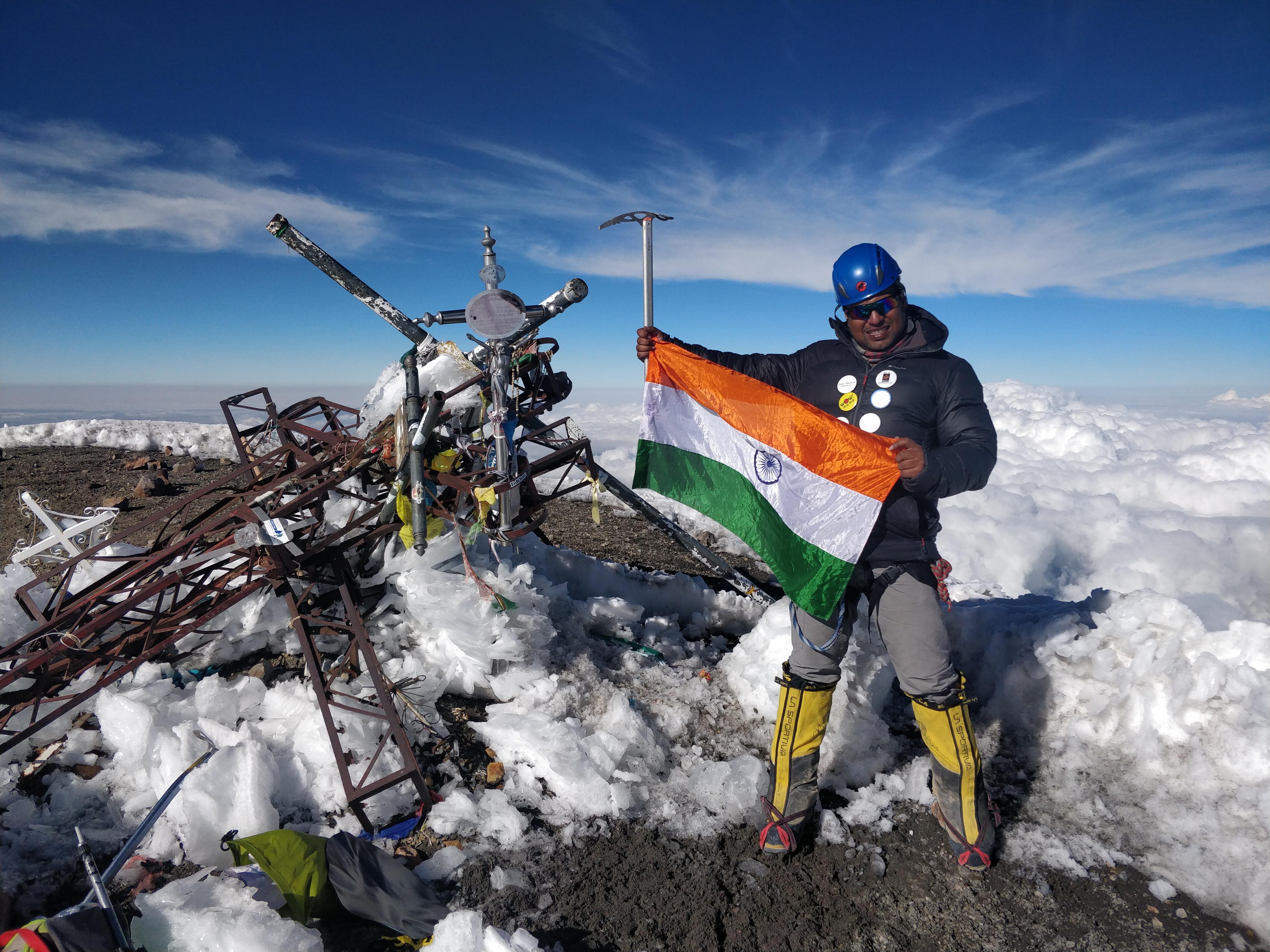 Satyarup Siddhanta on Pico de Orizaba - December 2018