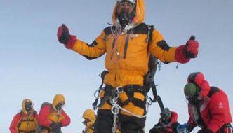 The true photo of Satyarup Siddhanta on Everest