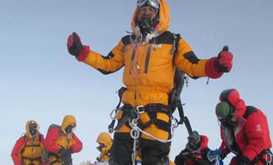 The true photo of Satyarup Siddhanta on Everest