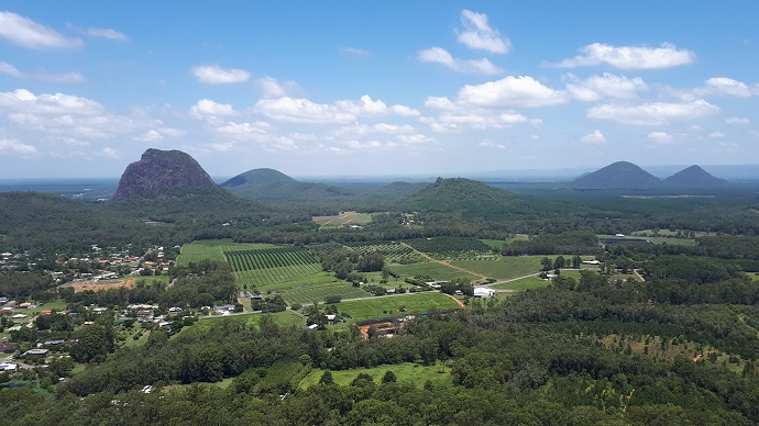 Mount Tibrogargan and the Glass House Mountains