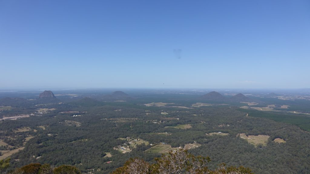 Mount Tibrogargan and Glass House Mountains panorama