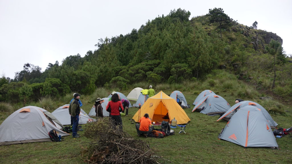 Campsite on Pico Zunil