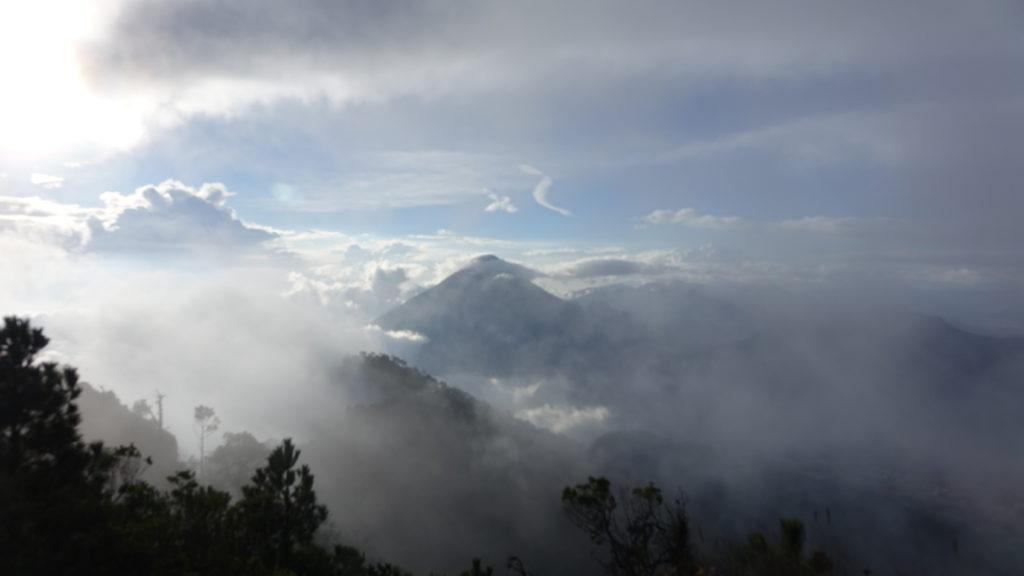 Glimpse of Volcán Santa Maria
