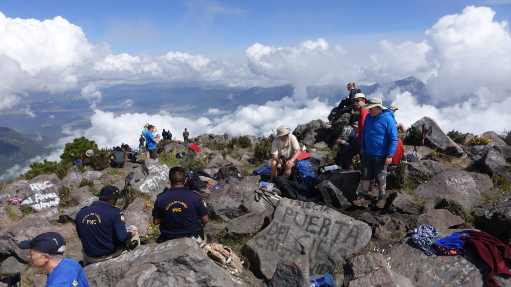 On the summit of Volcán Santa Maria