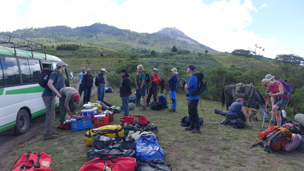 Sorting out kit for Volcán Tajamulco