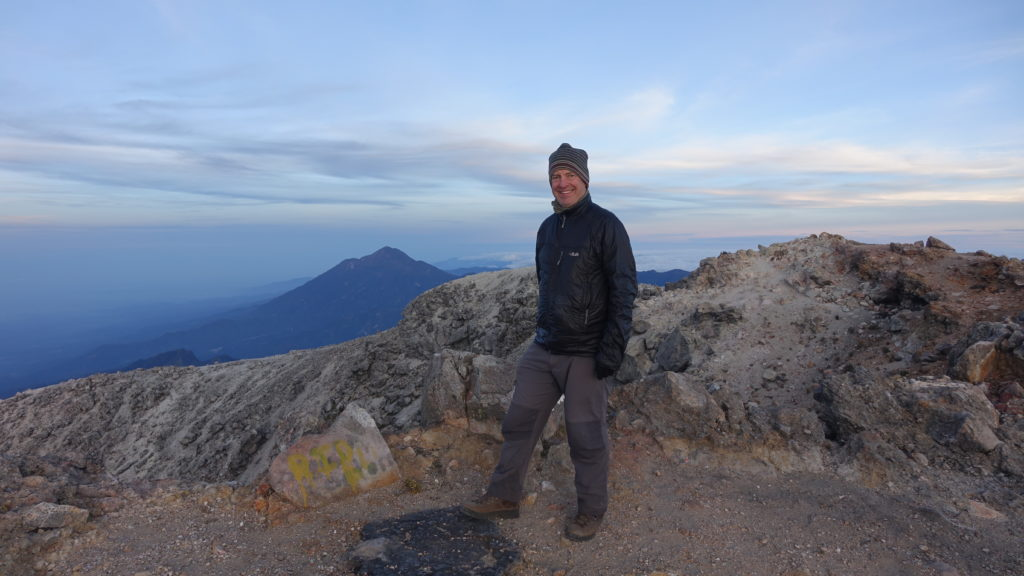 The author on the summit of Tajumulco