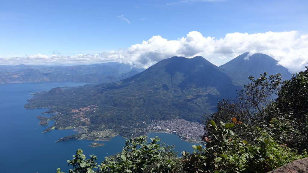 Toliman and Atitlan from Volcan San Pedro