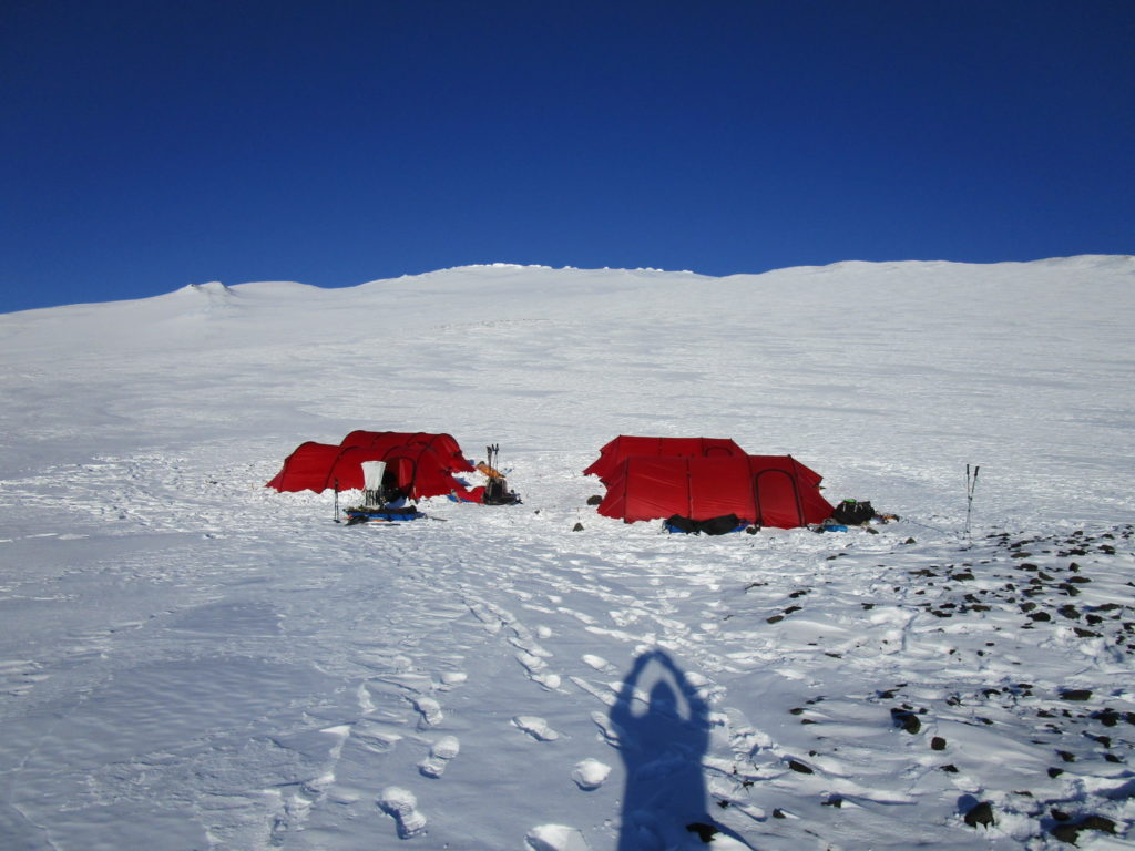 High camp on Mount Sidley