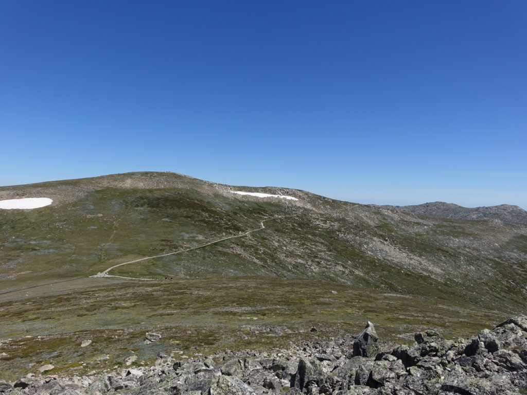 Rawson Pass and Kosciuszko from Etheridge Ridge