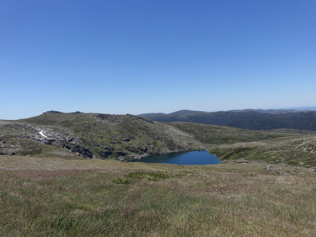Blue Lake from Mount Twynam slopes