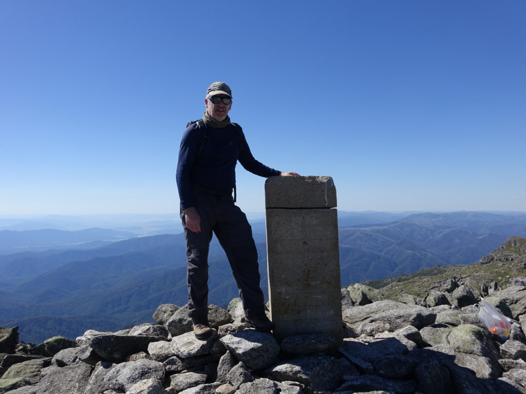 Author on summit of Mount Townsend