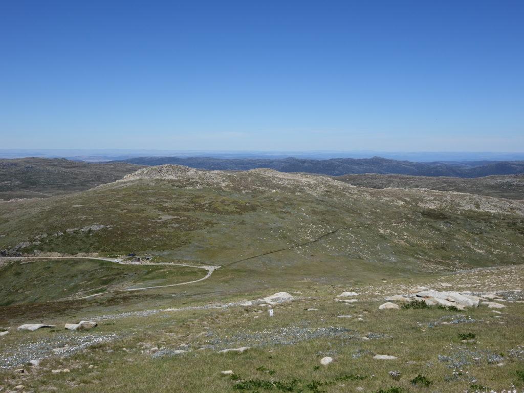 View down to Rawson Pass and Etheridge Ridge