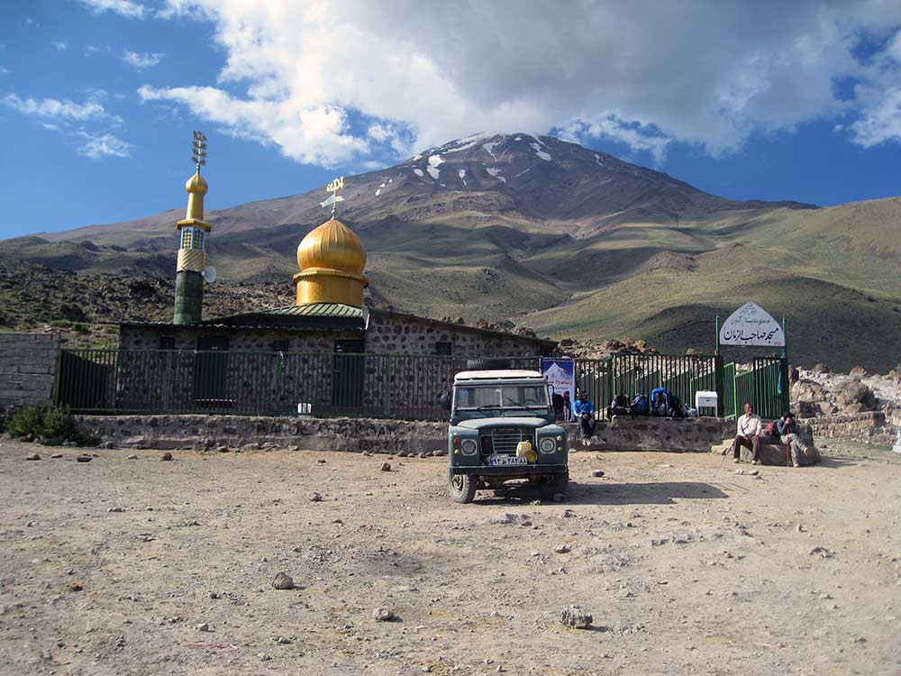 Mount Damavand - Volcanic Seven Summit in Iran.  Cost relatively low.