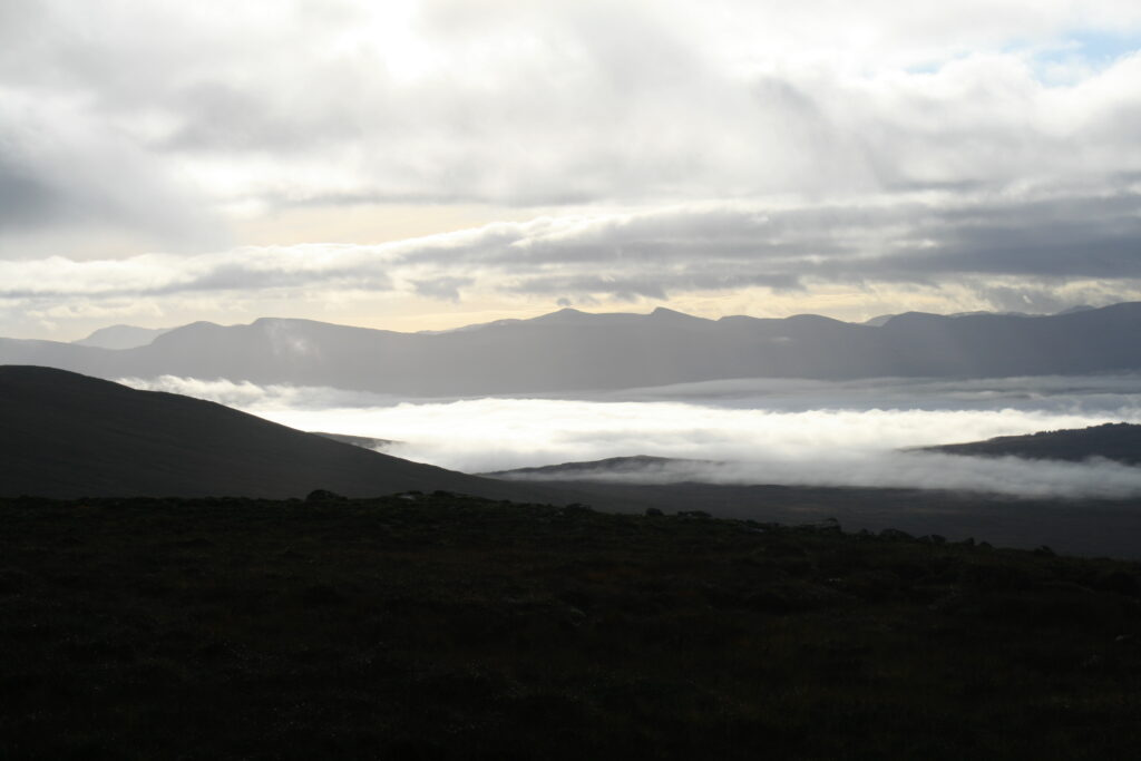 Loch Rannoch covered in mist