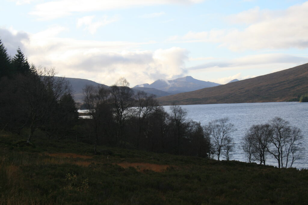 Binneins Mor and Beag from Loch Ossian
