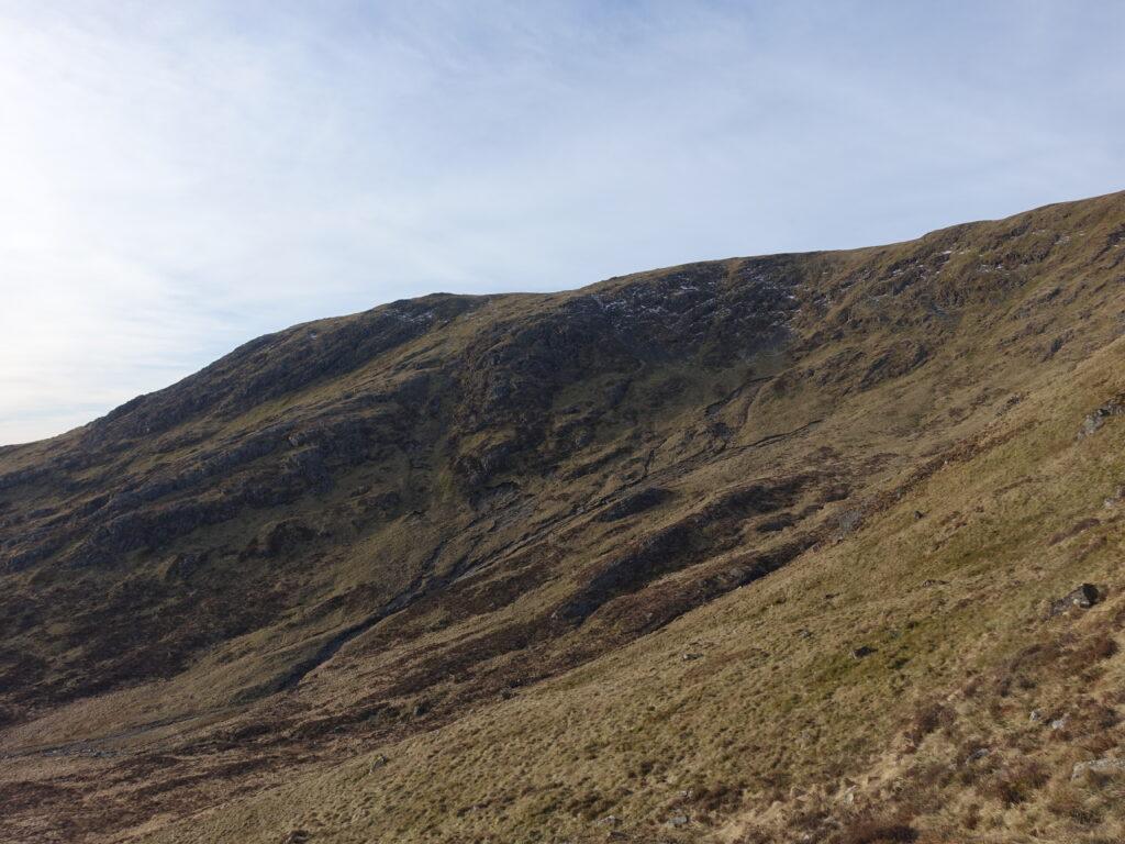 Incipient cliffs on Corserine