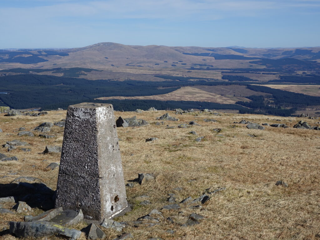 View to Cairnsmore of Cairsphairn from Mickle Millyea on the Rhinns of Kell