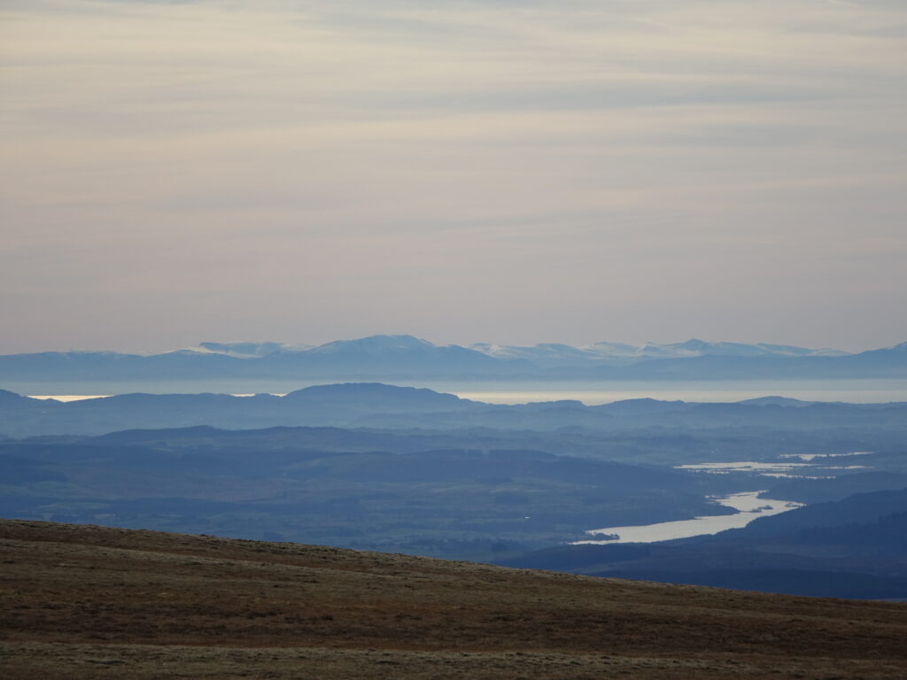 The Lake District from Corserine