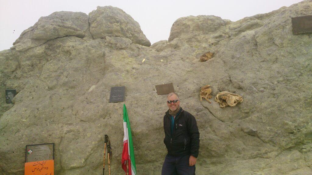 On the summit of Mount Damavand