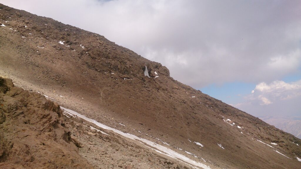 Frozen waterfall on my Damavand climb