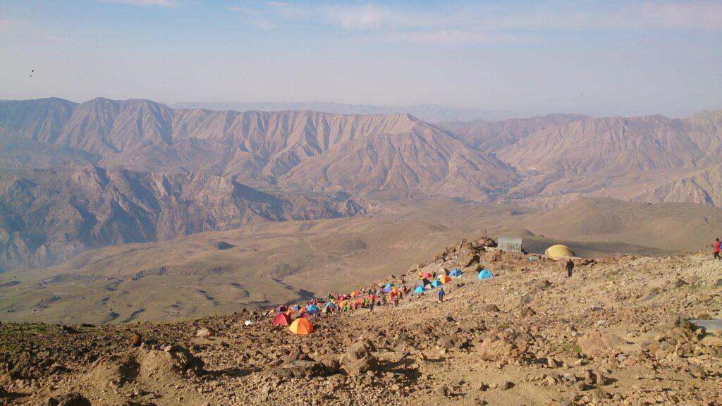 View from Bargah Sevom, Mount Damavand