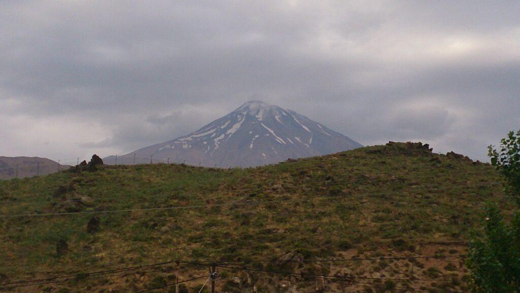 Gloomy Mount Damavand, Iran