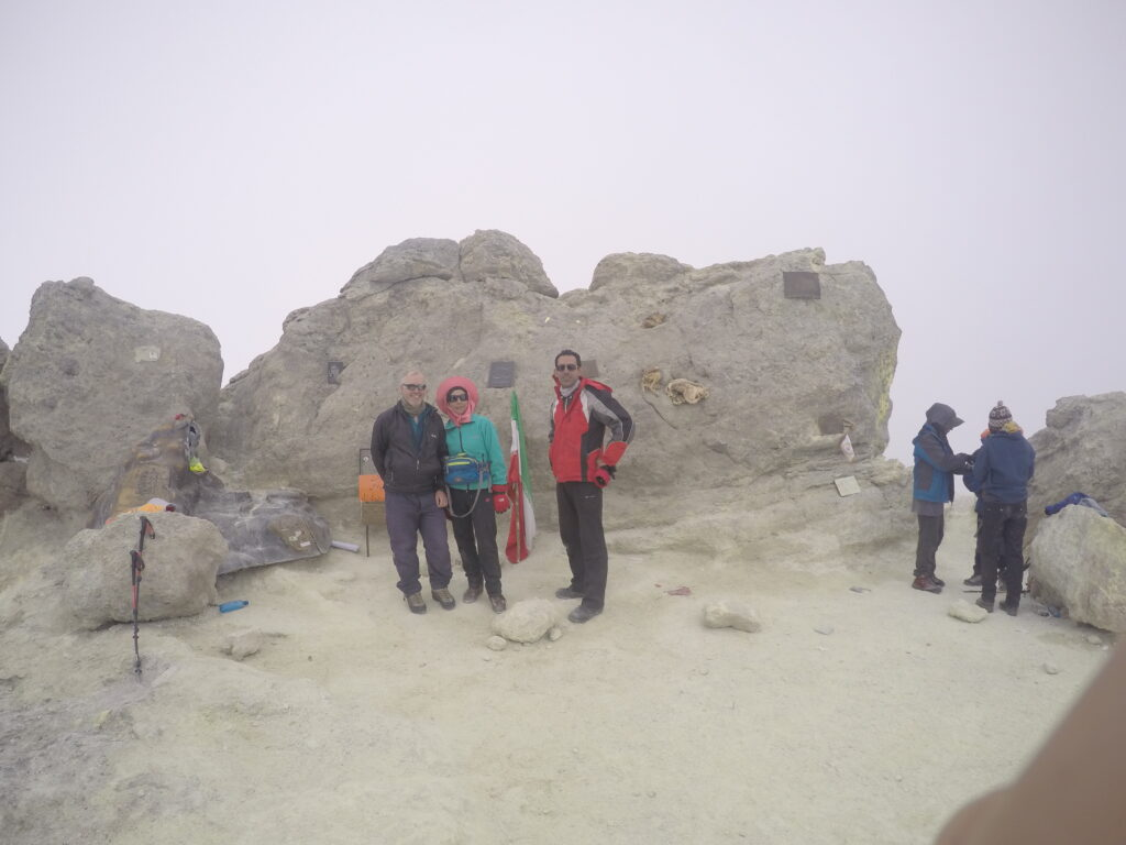Summit of Damavand with an Iranian couple