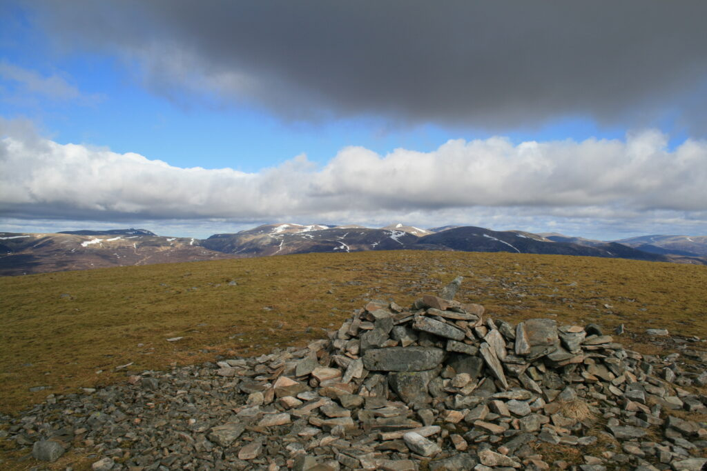 The Cairngorms from Carn Ealar