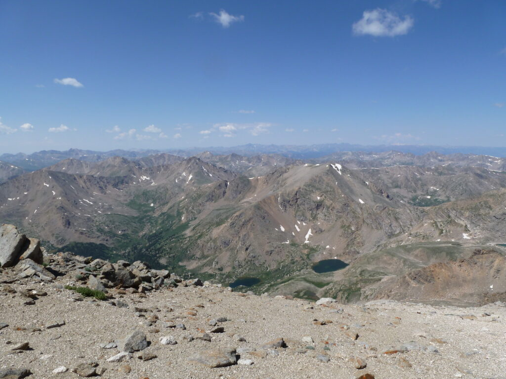 View west from Mount Massive