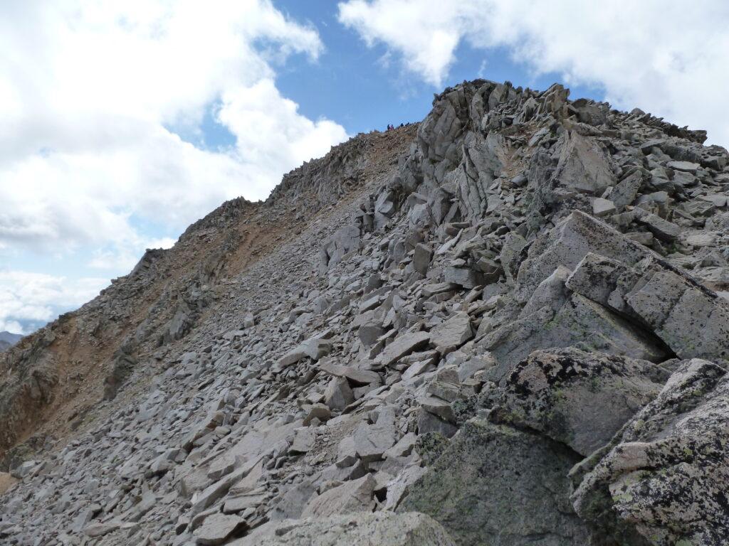 Final rise to Huron Peak