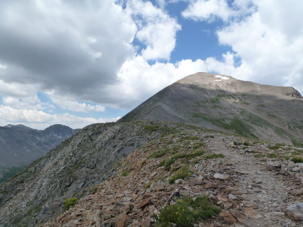 View back up Quamdary Peak