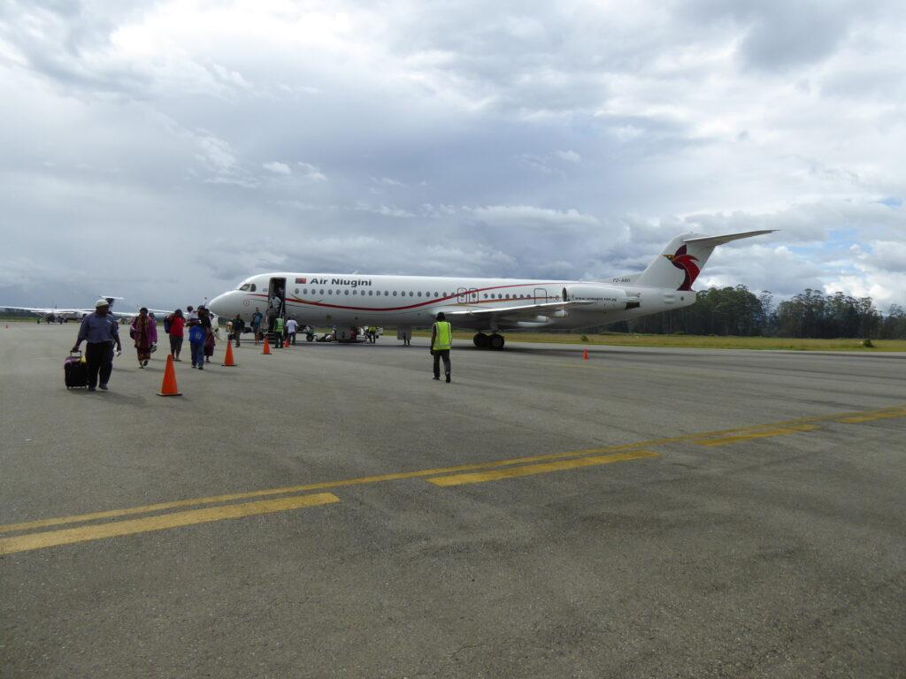 Arriving at Mount Hagen