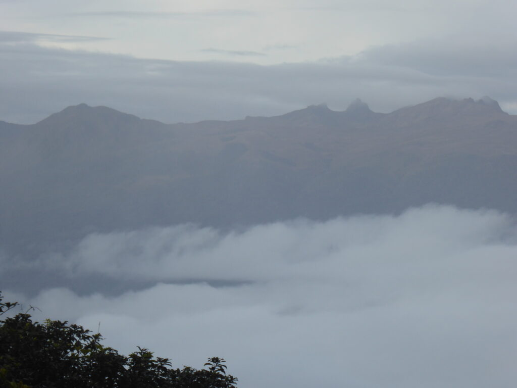 A zoomed shot of Mount Giluwe