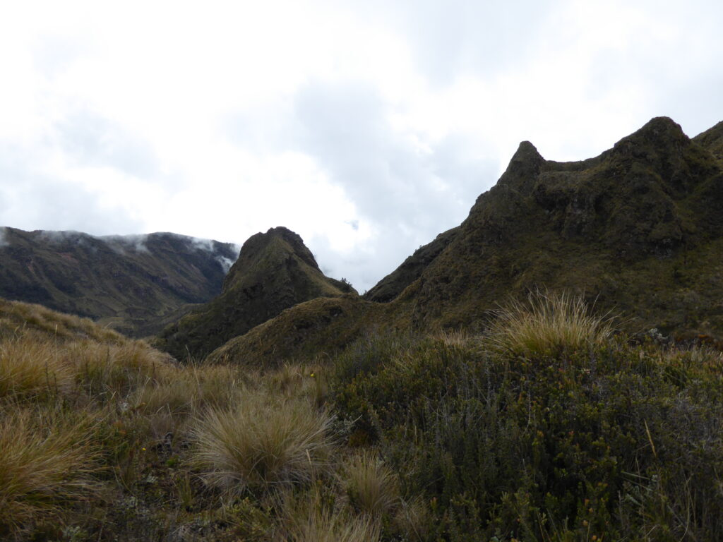 Volcanic plugs on Mount Giluwe
