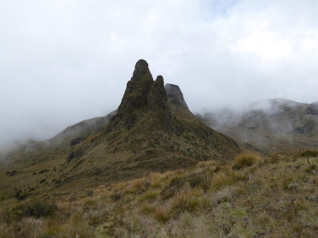 Volcanic plug on Mount Giluwe