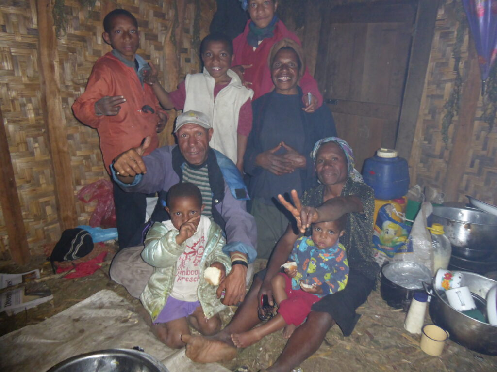 Grace's family.  Dad, Gedion, was my guide on Mount Giluwe