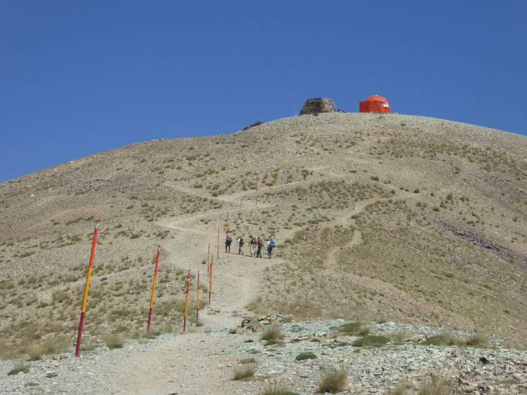 The final stretch up Mount Tochal