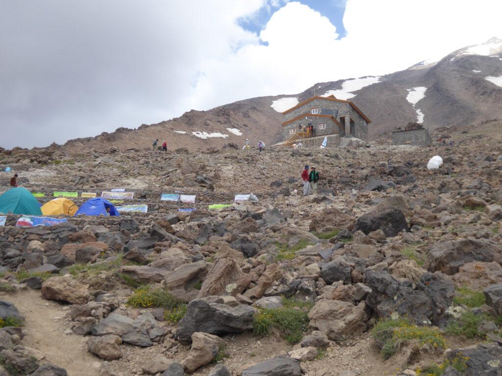 Bargah Sevom, a refuge on Mount Damavand