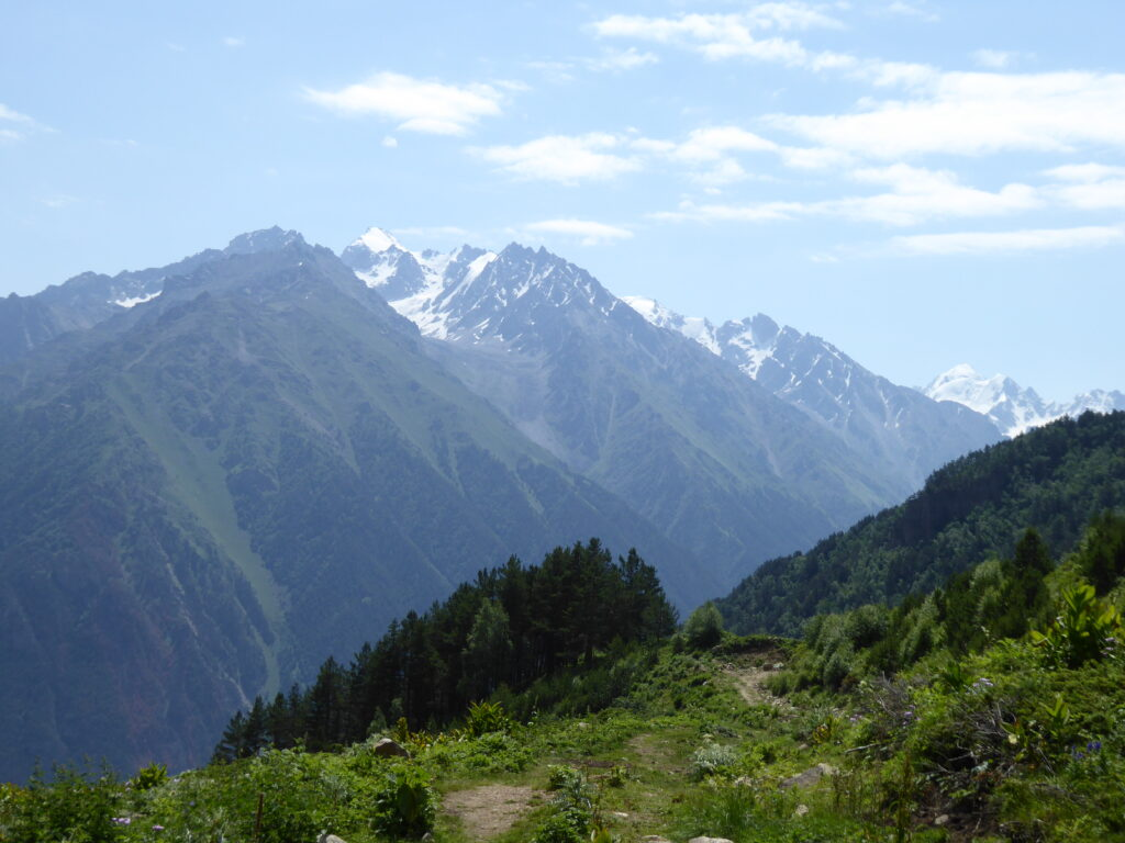 A view back across the Baksan valley - en route to Mukal