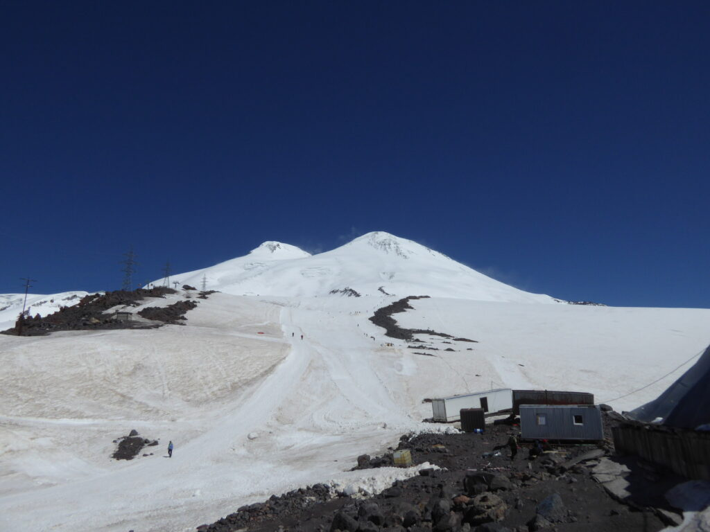Elbrus' twin summits